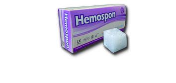 Hemosponschachtel mit Würfel und Schatten